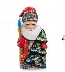 РД-33 Фигурка Дед Мороз с елкой  Резной  16см