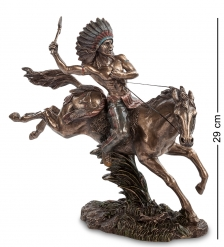 WS-441 Статуэтка  Индеец на коне