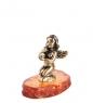 AM- 196 Фигурка  Амурчик сидящий   латунь, янтарь