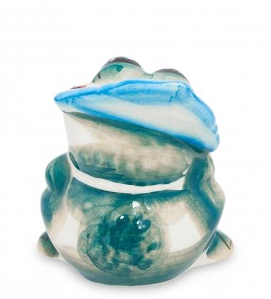 Первая фотография ГЛ-221 Фигурка  Лягушка царевна цв.  Гжельский фарфор