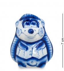 ГЛ-113 Подставка для зубочисток  Ежик   Гжельский фарфор