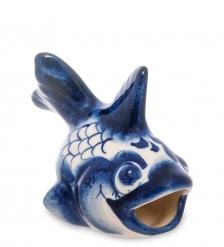 ГЛ-258 Фигурка «Рыбка-Бычок»  Гжельский фарфор