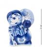 Фотография ГЛ-133 Фигурка  Еж с грибом   Гжельский фарфор №1