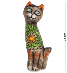KK-150 Фигурка «Кот-Южные цветы» шамот