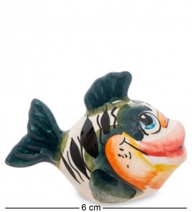 ГЛ-257 Фигурка  Рыбка  цв. Гжельский фарфор