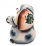 Фотография ГЛ-134 Фигурка  Еж с грибом  цв.  Гжельский фарфор №2
