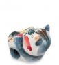 ГЛ-153 Фигурка  Кот на спине  цв. Гжельский фарфор