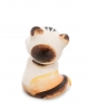 ГЛ-194 Фигурка  Кот-Сиамский  цв. Гжельский фарфор