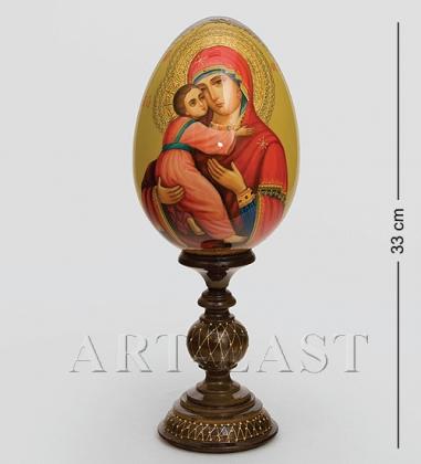 ИКО- 6 Яйцо-икона  Владимирской Божьей Матери  Овечкина М. В.
