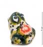 ГЛ-116 Подставка для зубочисток «Лягушка» цв.  Гжельский фарфор