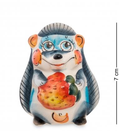 Первая фотография ГЛ-112 Подставка для зубочисток  Ежик с клубникой  цв.  Гжельский фарфор
