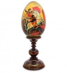 ИКО- 9 Яйцо-икона  Георгия Победоносца  Рябова Г.