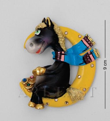 16001 Магнит гипсовый  Лошадь на луне  эк.