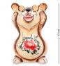 ГЛ-230 Фигурка  Медведь  цв.  Гжельский фарфор
