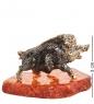 AM- 332 Фигурка  Кабан-вепрь на подставке   латунь, янтарь