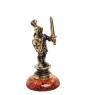 AM- 536 Фигурка  Рыцарь   латунь, янтарь