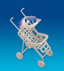 AR-1323/ 1 Фигурка Детская коляска посеребр. с цв.кр.  Юнион