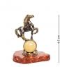AM- 418 Фигурка  Лошадь на шаре   латунь, янтарь