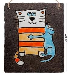 KK-205 Панно  Кошка с мышкой  шамот