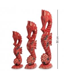 10-017 Фигурка  Морской конек  набор из трех 50,40,30 см  батик, о.Ява