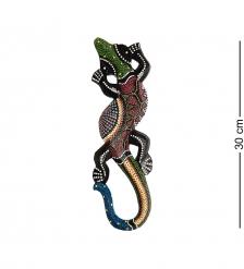 20-059 Панно настенное «Геккон»  албезия, о.Суматра  30 см