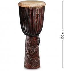 55-018 Барабан Джембе резной  Гана  100 см