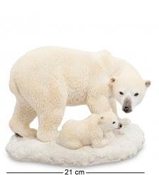 WS-706 Статуэтка  Белый медведь с детенышем