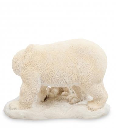 WS-706 Статуэтка «Белый медведь с детенышем»