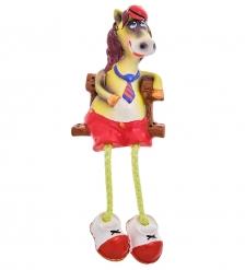 16069 Магнит гипсовый  Конь с ножками  цв.