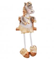 16070 Магнит гипсовый  Конь с ножками  зол.