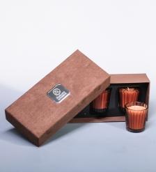 WD-13/ 1 Н-р из 3 свечей аром.  Горячий белый шоколад  в под. кор.