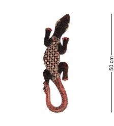 10-027 Панно настенное  Геккон Джава   батик, о.Ява  50 см