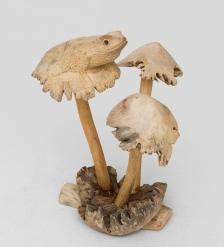 50-001 Статуэтка «Лягушка на грибе» 20 см