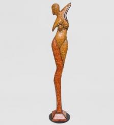 23-011 Статуэтка  Девушка  дерево стекл.мозаика 100 см