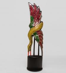 23-012 Статуэтка  Райская птица  дерево стекл.мозаика 60 см