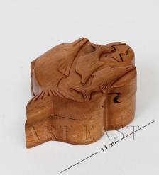 В2-0253 Сувенир-шкатулка с секретом 12х5 см  красное дерево