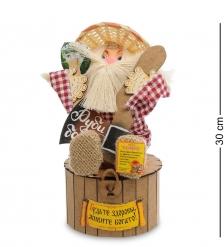 DO-114 Домовик Славуся на сундук с топором и дровами - Вариант A