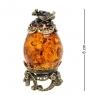 AM- 622 Фигурка  Яйцо   латунь, янтарь