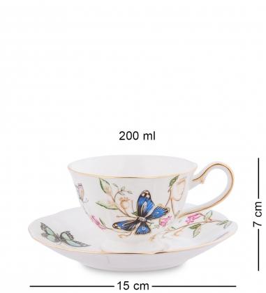 JK- 47 Чайный набор на 6 перс.Райский уголок  Pavone