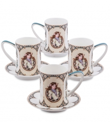 JK- 55 Чайный набор на 4 перс.«Габриэлла»  Pavone