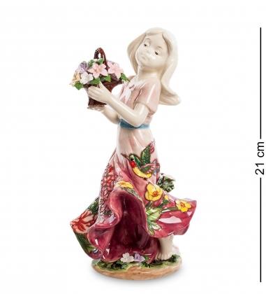 JP-12/19 Фигурка Девушка с цветами  Pavone
