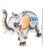 ГЛ-260 Фигурка  Слон  бол. цв. Гжельский фарфор