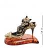 AM- 386 Фигурка «Кошка на туфельке»  латунь, янтарь
