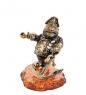 AM- 453 Фигурка  Морской волк   латунь, янтарь