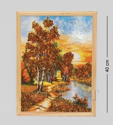 30*40см картина с дерев. рамкой  природа