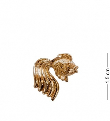 AM- 156 Фигурка-кошельковая  Золотая рыбка   латунь