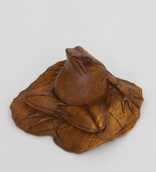 15-058 Статуэтка  Лягушка на листе  суар