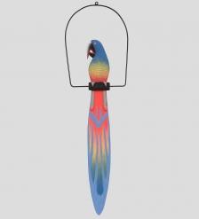 90-069 Статуэтка  Попугай на жердочке  100 см