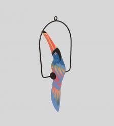 90-074 Статуэтка  Тукан на жердочке  30 см