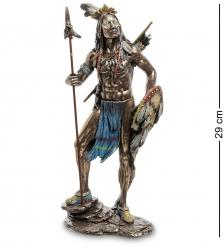 WS-620 Статуэтка  Индеец с копьем и щитом